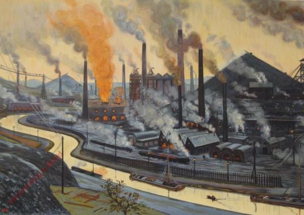 Le pays industriel. Het industriële gebied