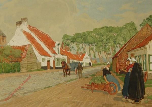 Un village du nord de la West-Flandre. Een dorp in het noorden van West-Vlaanderen