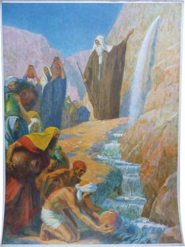 14 - Mozes slaat water uit de rots