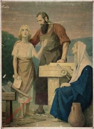 35 - De heilige familie in gebed te Nazareth