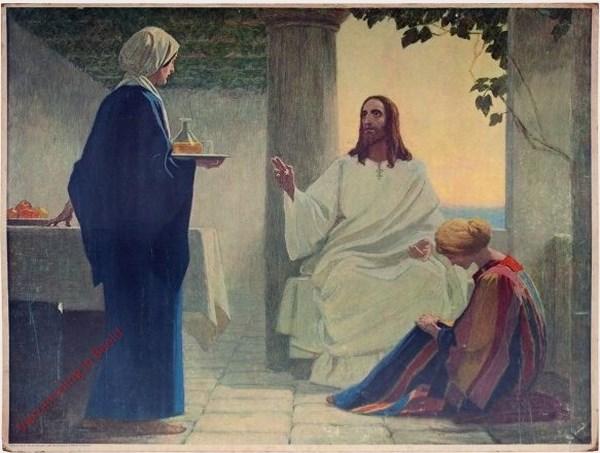 59 - Jezus bij Maria en Martha