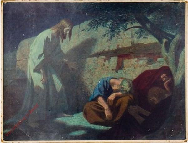 76 - Jezus op de Olijfberg bij de slapende discipelen