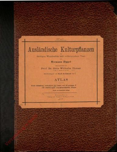 I. Abteilung, Vierte neu nearbeite Auflage - Atlas