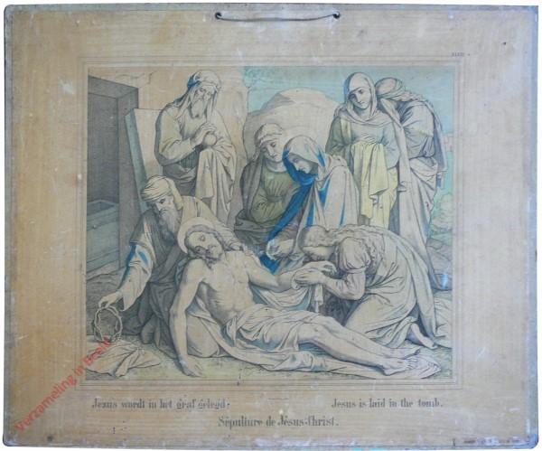 XXXVI - Jezus wordt in het graf gelegd