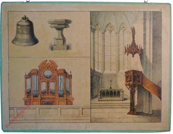 XII - [Inneres einer Kirche]