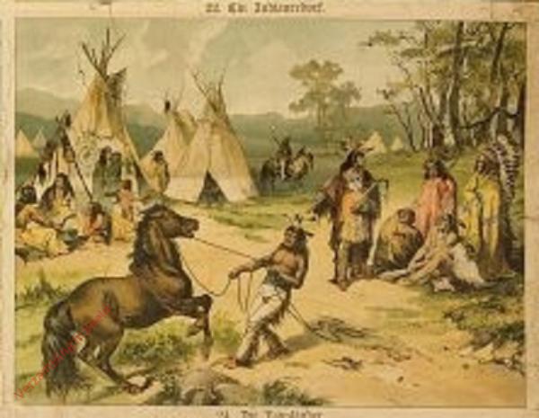 22 - Ein Indianerdorf