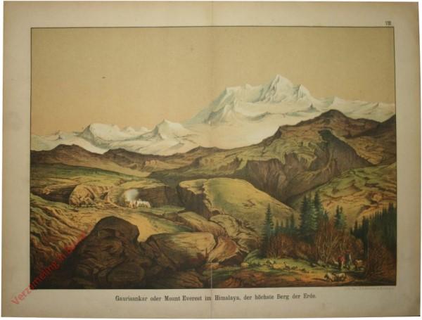 8 - Gaurisankar oder Mount Everest im Himalaya, der höchste Berg der Erde