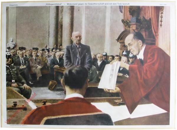 """Serie II, 6 - """"Volksgerichtshof"""" - Widerstand gegen die Gewaltherrschaft wird mit dem Tode bestraft"""