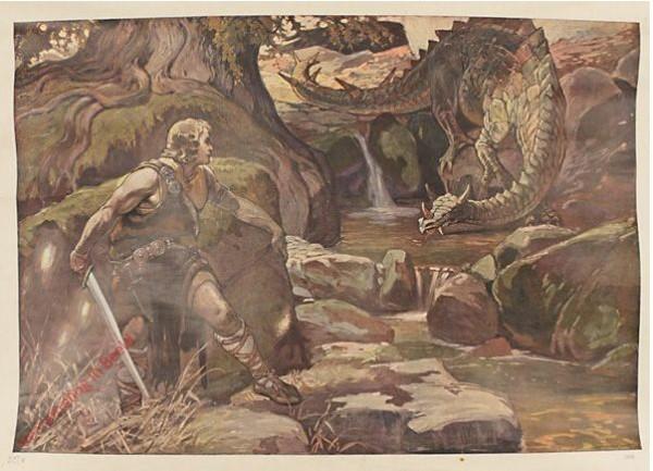 Serie I, Bild 2 - Jung Siegfried und der Drache