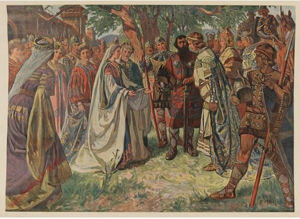 Serie I, Bild 3 - Siegfried und Kriemhild