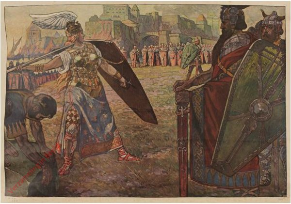 Serie I, Bild 4 - Gunthers Kampf mit Brunhild