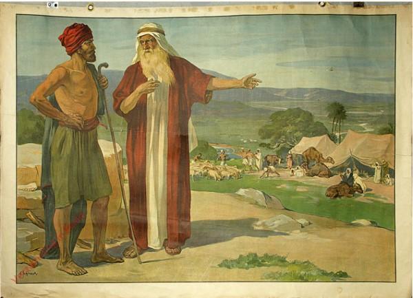Teil A. Altes Testament, Serie 1. Ur. u. Erzv�tergeschichten. Bild 2 - Abraham und Lot