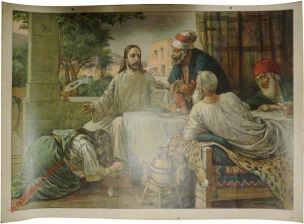 Teil B. Neues Testament, Serie 1. Bild 26 - Jesus im Hause d. Pharas�er