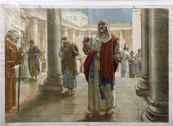 Teil B. Neues Testament, Serie 2 Bild 33 - Das Gleichnis von dem Pharis�er und dem Z�llner