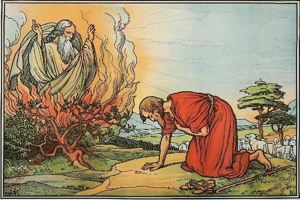 14 - Moses am brennenden Dornbusch