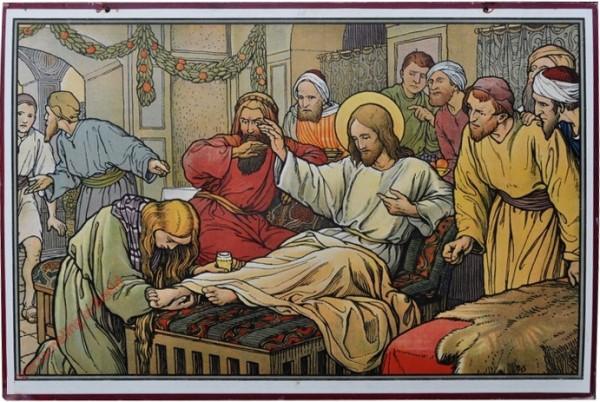 28 - [Voetenwassing door Maria Magdalena]