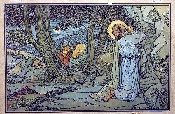 39 - Jesus betet im Garten Gethsemane