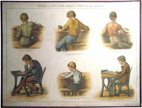 4 - Falsches und richtiges Sitzen in der Schulbank