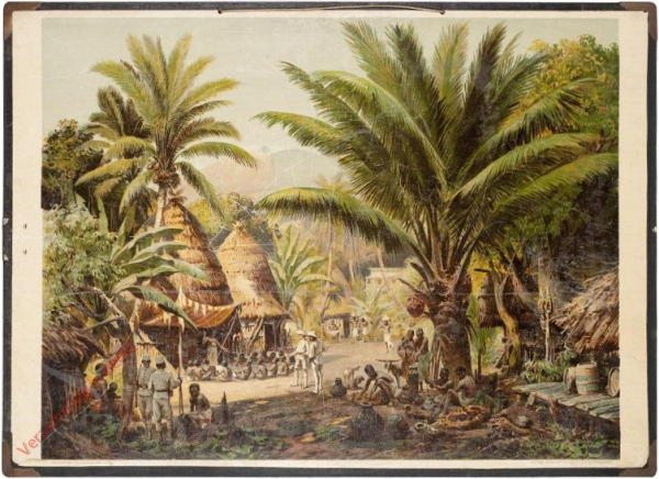 2 - Kamerun. Dorf mit Blick auf den Kamerunberg