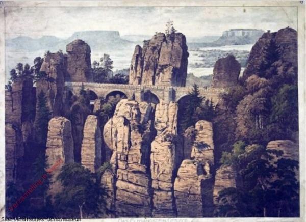 G 5 - Das Elbsandstein-Gebirge, Die Bastei-Br�cke
