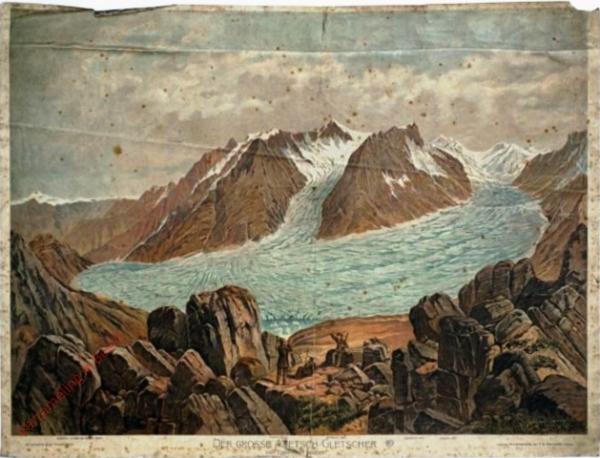 G 12 - Der grosse Aletsch-Gletscher. Vom Eggischhorn gesehen