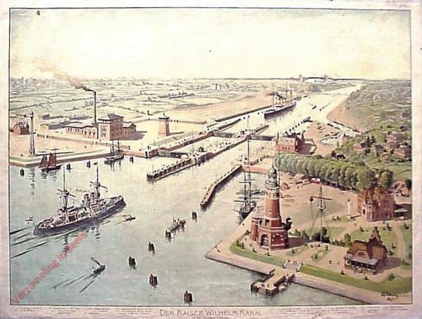 G 28 - Der Kaiser-Wilhelm-Kanal mit den Holtenauer Schleusen