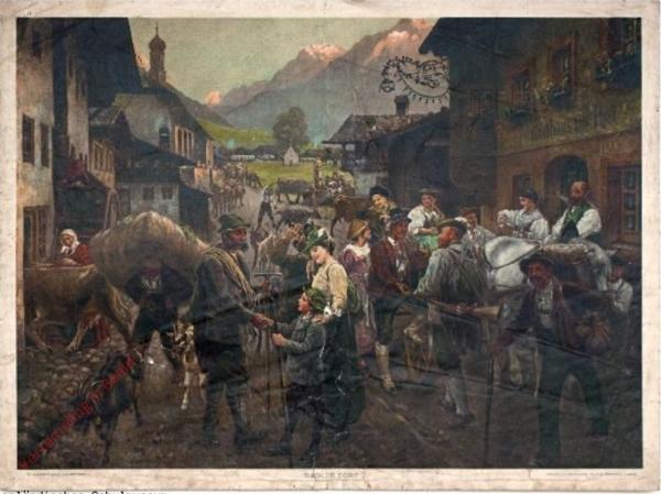 G 41 - Tiroler Dorf [herschilderd]