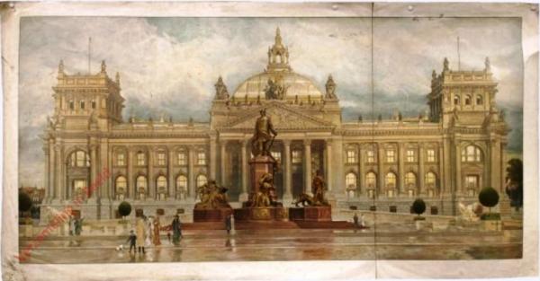 G 48 - Reichstag und Bismarckdenkmal