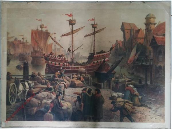 K.I.22 - Im Hafen einer Hansestadt (XV. Jahrhundert)