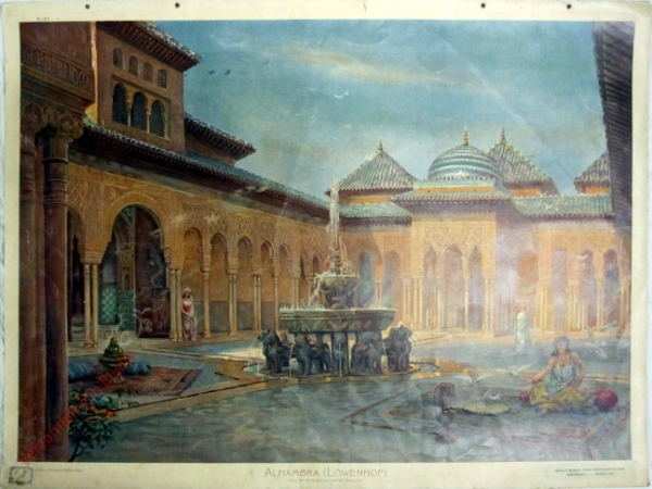 K.I.26 - Aus der Maurenzeit: Löwenhof (Alhambra) (XIV. Jahrhundert)