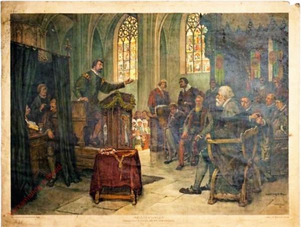 K.I.28 - Meistersinger (Singeschule im Anfang des XVI. Jahrhunderts)