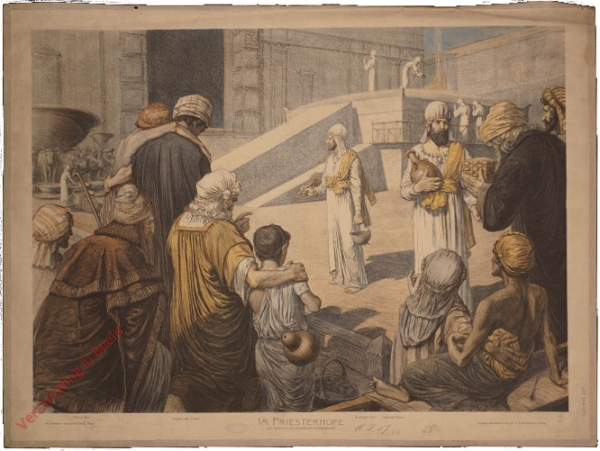 K.II.7 - [Juden:] Am Priesterhofe des Tempels zu Jerusalem (Opferszene)