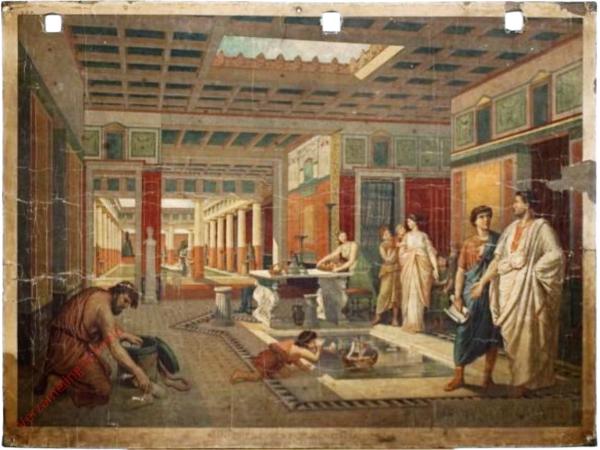 K.II.9 - [Römer:] Inneres eines römischen Hauses