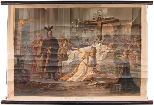 Chriemhild an der Leiche Siegfrieds (Bahrprobe)