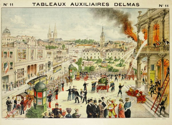 Série III : N°11 - La Ville et ses Monuments (Un Incendie)