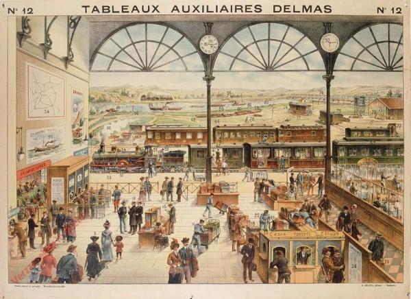 Série III : N°12 - La Gare, Les Voyages, les Bateaux
