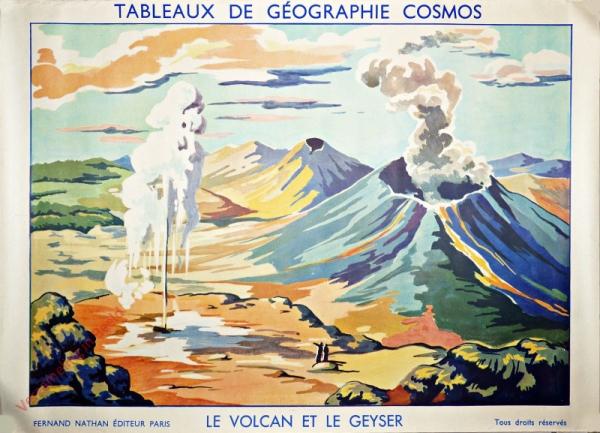Le volcan et le geyser
