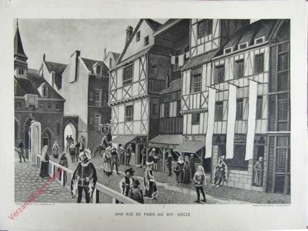 10 - Une rue de Paris au XVe si�cle