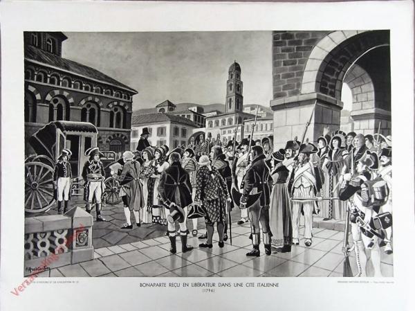 21 - Bonaparte recu en lib�rateur dans une Italienne (1796)