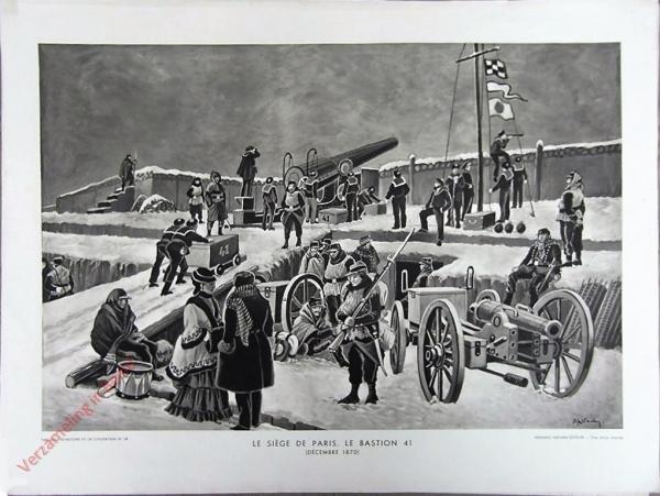22 - Le siege de Paris. Le bastion 41. (D�cember 1870)