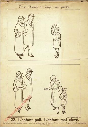 22 [1e druk] - L'enfant poli-L'enfant mal �l�ve