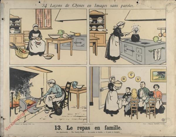 13 [1e druk] - Le repas en famille