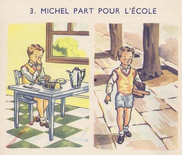 3 - Michel part pour l'�cole