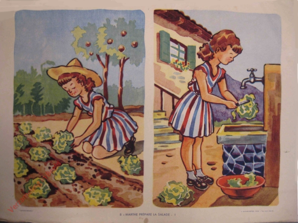 8 - Marthe pr�pare la salade - I