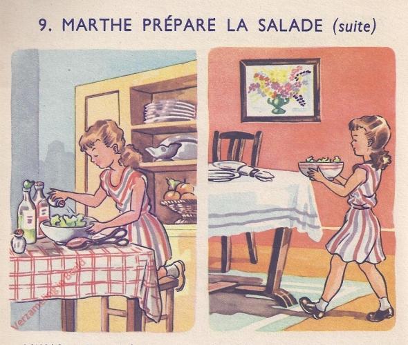 9 - Marthe pr�pare la salade - II