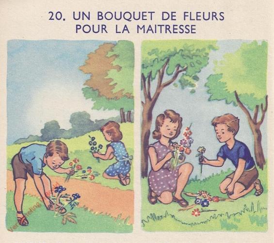 20 - Un bouquet de fleurs pour la maitresse - I