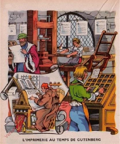 24 - [L'imprimerie au temps de Gutenberg]