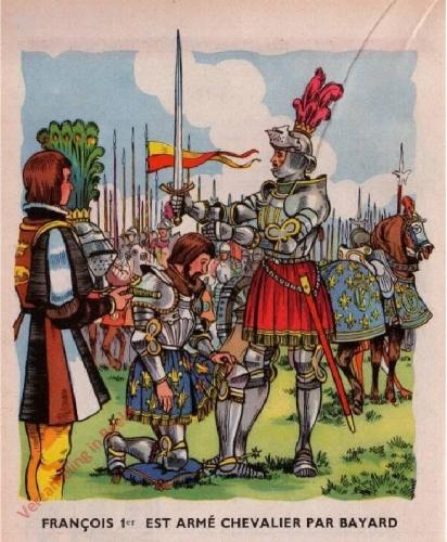 26 - [Francois 1e est arm� chevalies par Bayard]