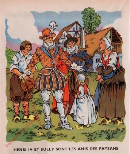 32 - Henri IV et Sully visitent les paysans. [Henri IV et Sully sont les amis des paysans]
