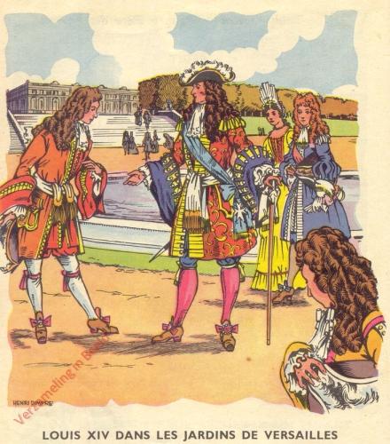 35 - Louis XIV et sa cour a Versailles. [Louis XIV dans les jardin des Versailles]